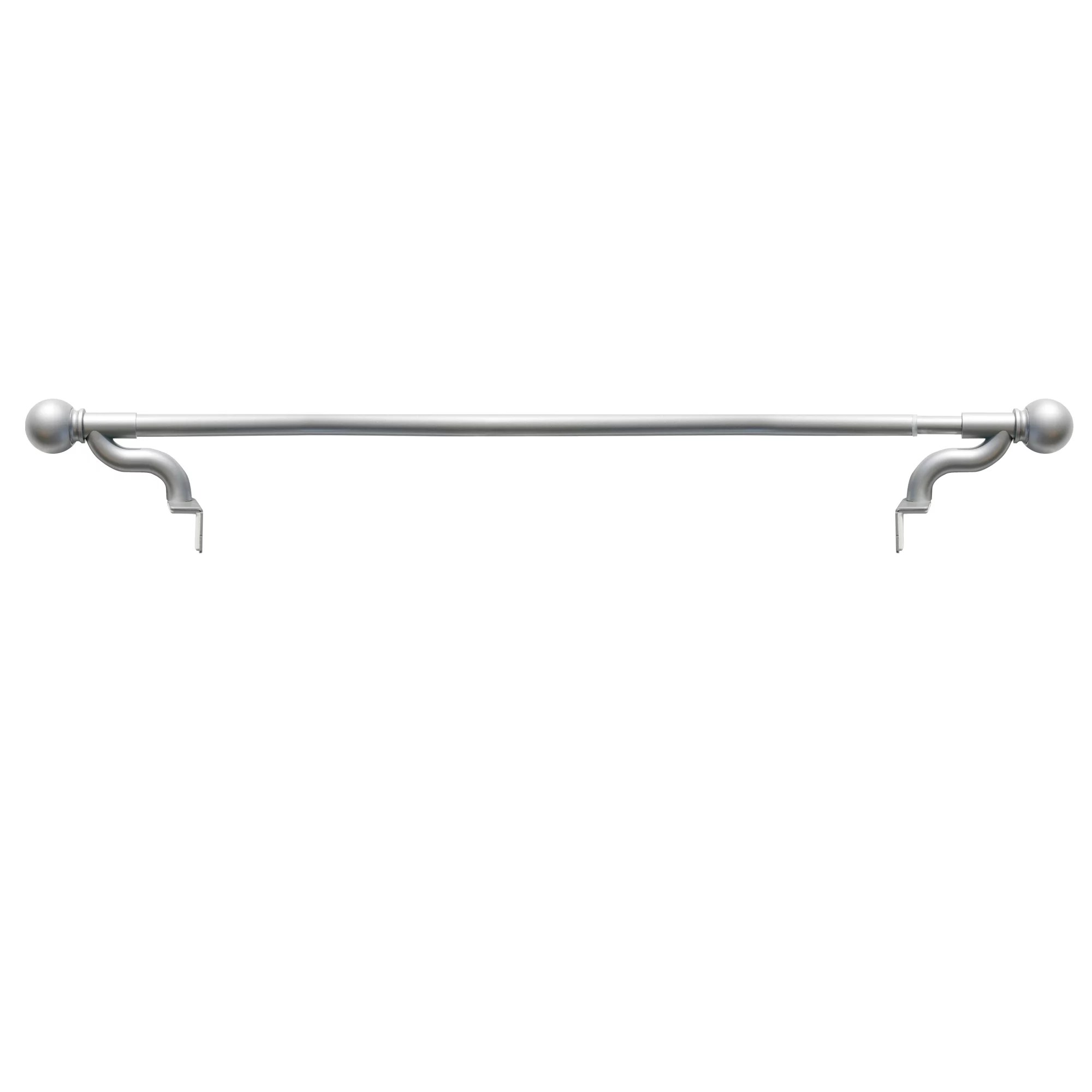 smart rods twist and shout no drill adjustable tension single curtain rod 48 84 brushed nickel