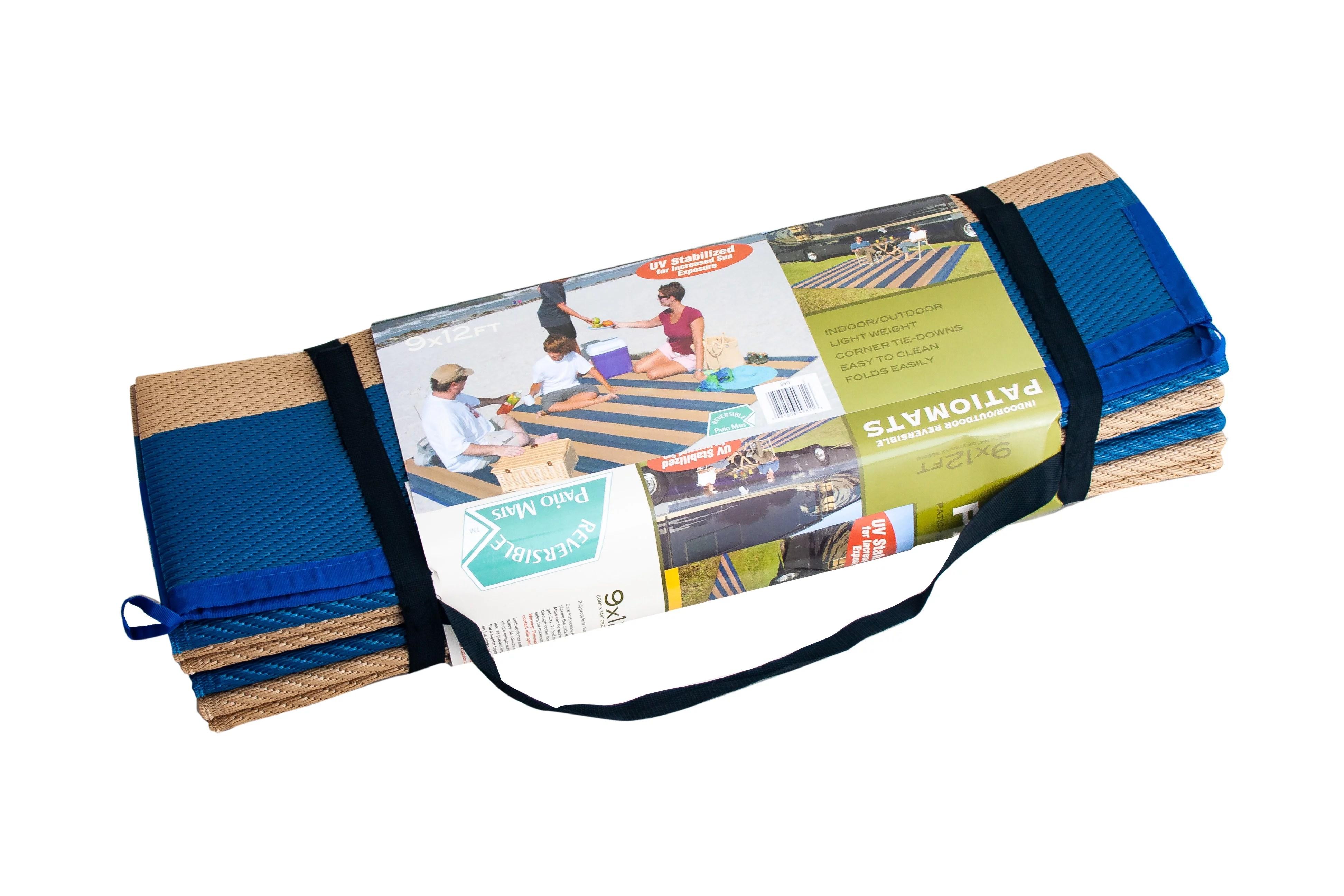 patio mats 9 x 12 reversible rv patio mat indoor outdoor rug camping mat cabana stripe