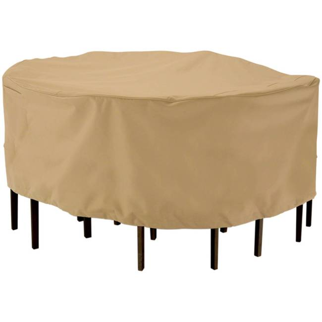 """Classic Accessories Terrazzo Round Patio Table & Chair Set Furniture Storage Cover, fits up to 69"""" diameter"""