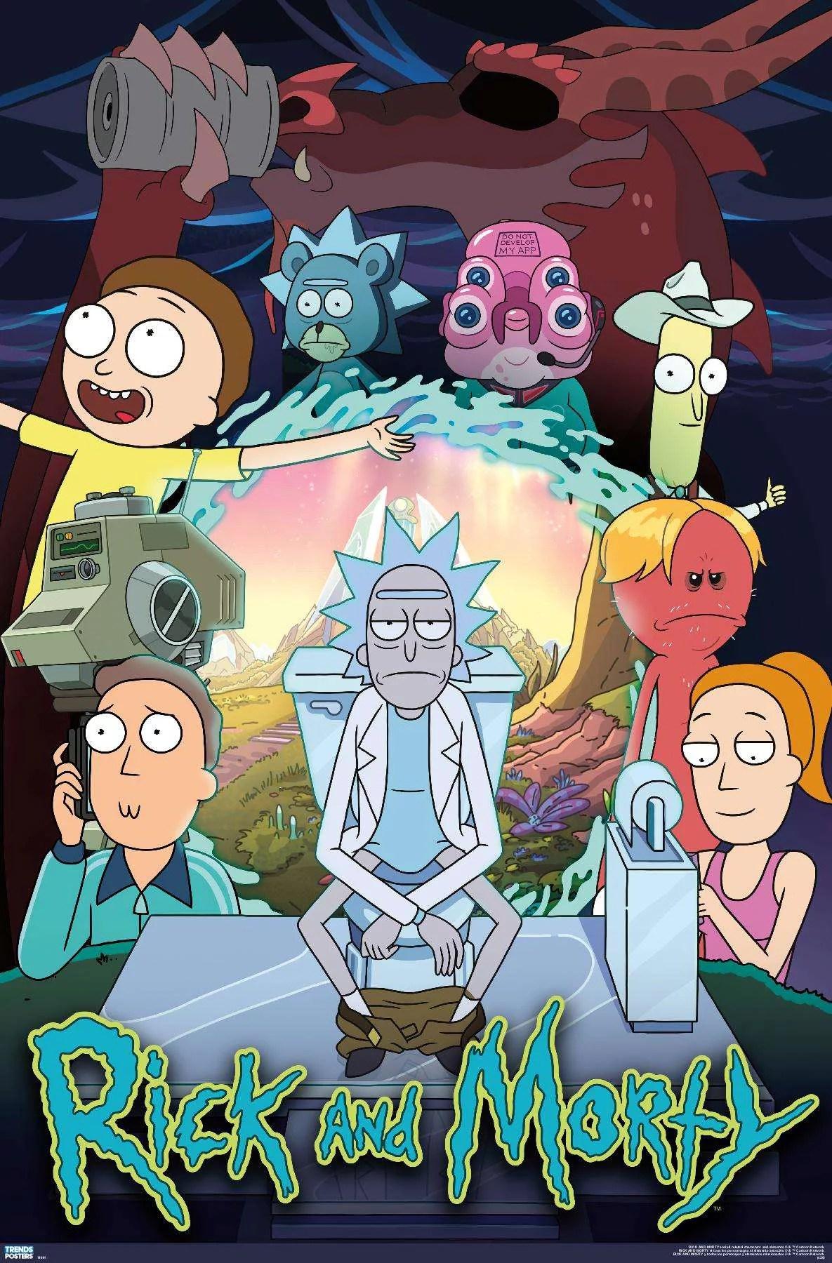 rick and morty season 4 group poster walmart com