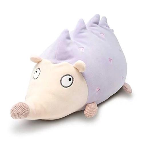cuddle barn soft stuffed animal toy squishy big plush hugging pillow hoyo the purple hedgehog