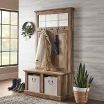 Better Homes Gardens Crossmill Hall Tree Storage Bench Weathered Finish Walmart Com Walmart Com