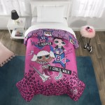 L O L Surprise Microfiber Comforter Kids Bedding Pink Purple Twin Full Walmart Com Walmart Com