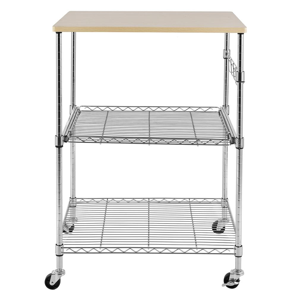 winado 3 tier heavy duty commercial microwave storage utility cart with wheels