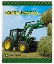 john deere birthday party invitations 8pk