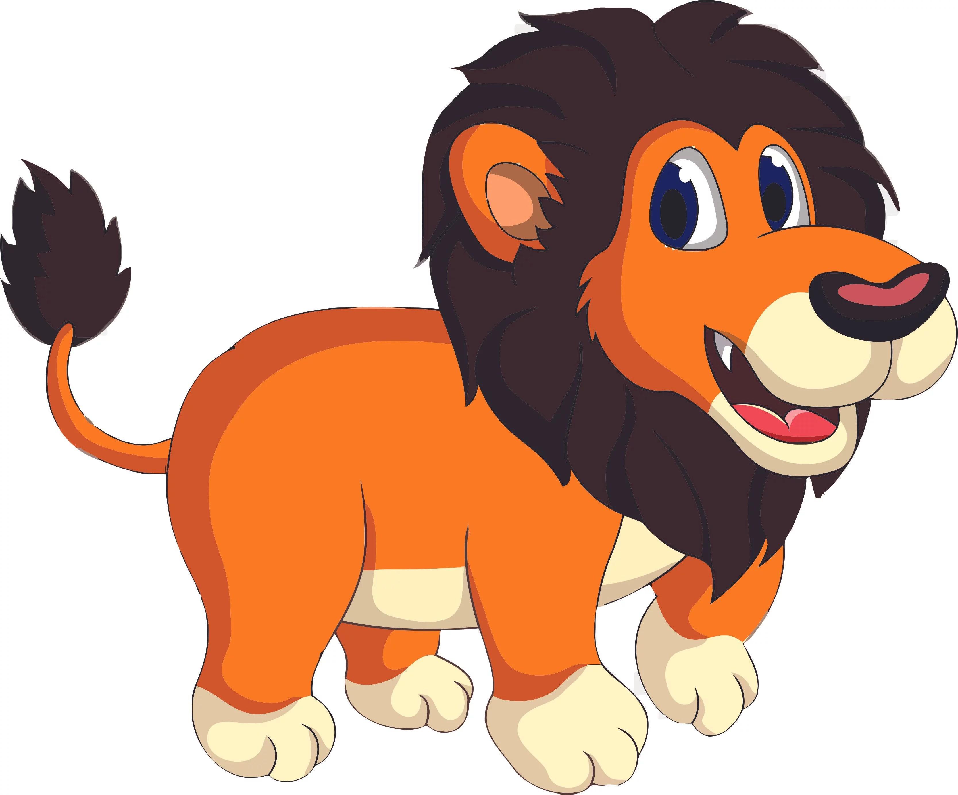 Lion Lions Of The Jungle Zoo Safari Wild Animals Cartoon Design Wall Decals For Nursery Bedroom Bathroom Animal Animals Children S Decorations Kids Vinyl Art Decal Walls Rooms Size 12x20 Inch Walmart Com