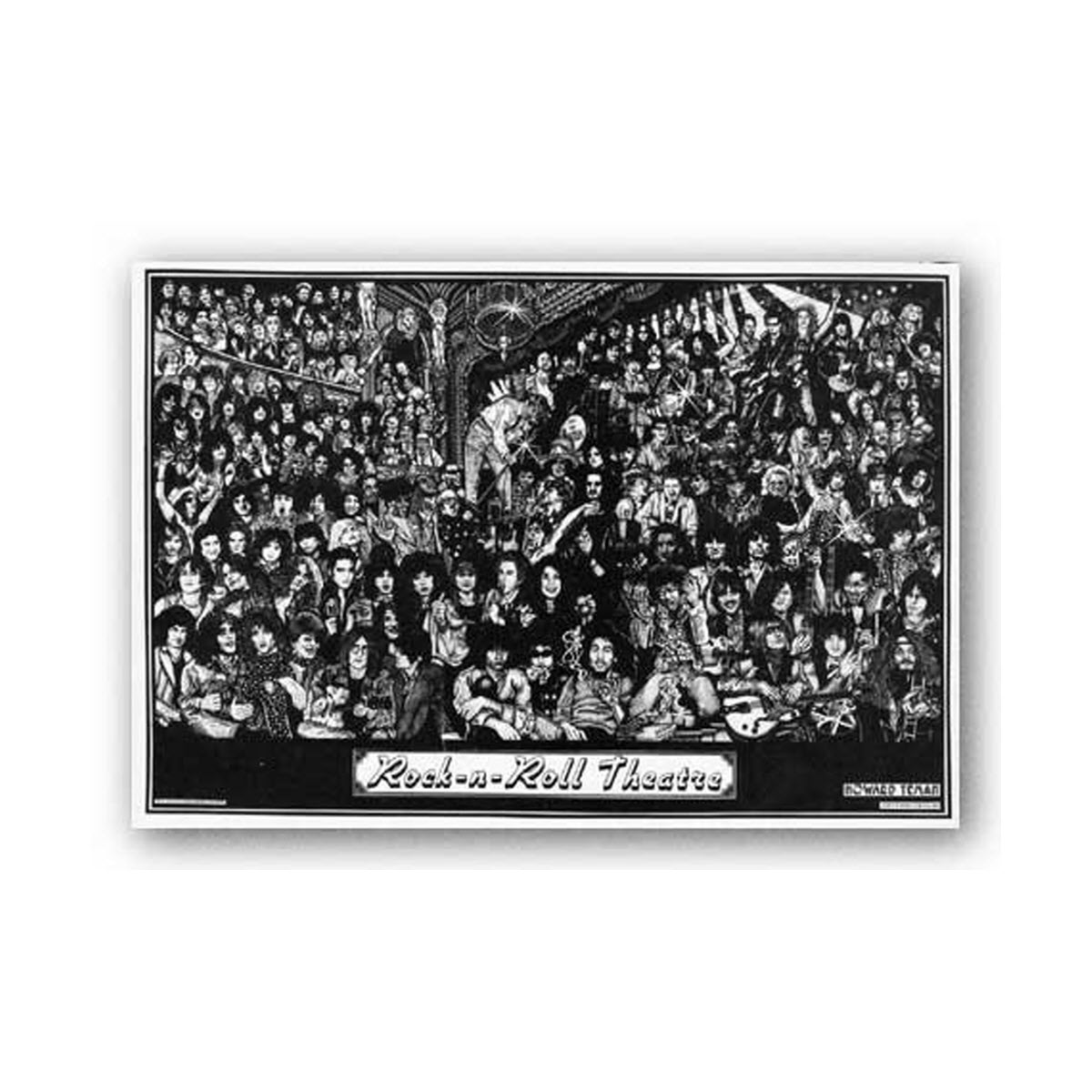 rock n roll theatre poster 36 x 24 masse art theater howard teman stars 60s 70s