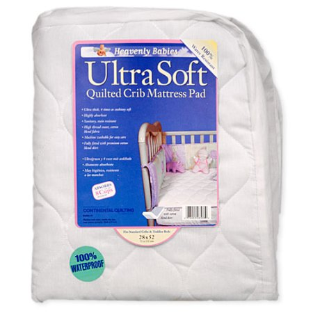 Kid Ding Waterproof Ultra Soft Quilted Crib Mattress Pad
