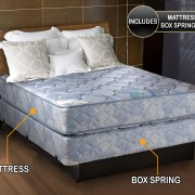 Chiro Premier Medium Firm Orthopedic Blue California King Size Mattress And Box Spring Set