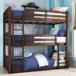 Better Homes And Gardens Tristan Wooden Triple Floor Bunk Bed Mocha Walmart Com Walmart Com