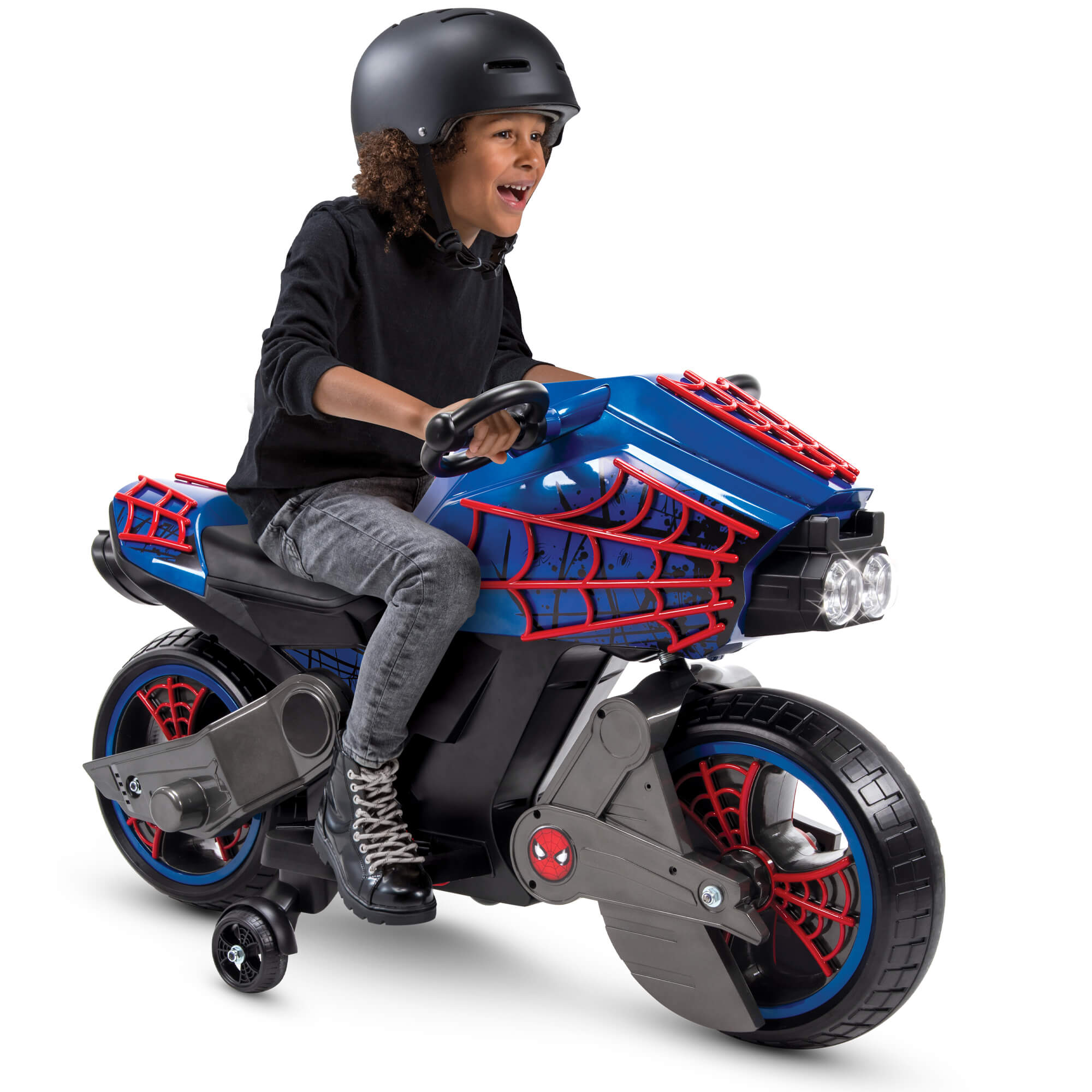 Marvel Spider-Man 6V Battery-Powered Motorcycle Ride-On Toy by Huffy
