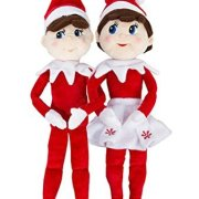 The Elf on the Shelf: A Christmas Tradition - Blue Eyed Boy and Blue Eyed Girl Plushee Pals Set with An Elf Story DVD Image 2 of 8