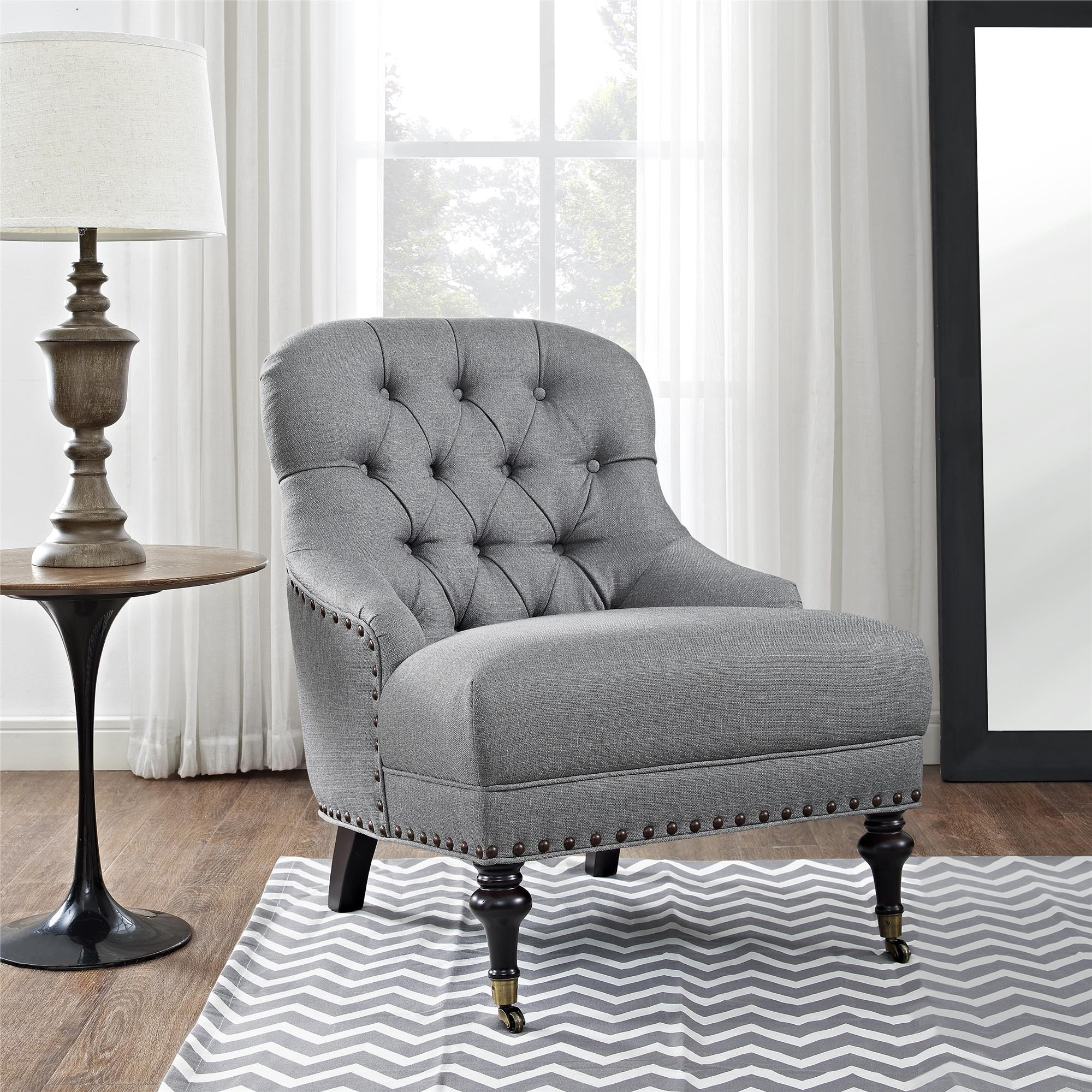 better homes and gardens accent chair multiple colors lightgray