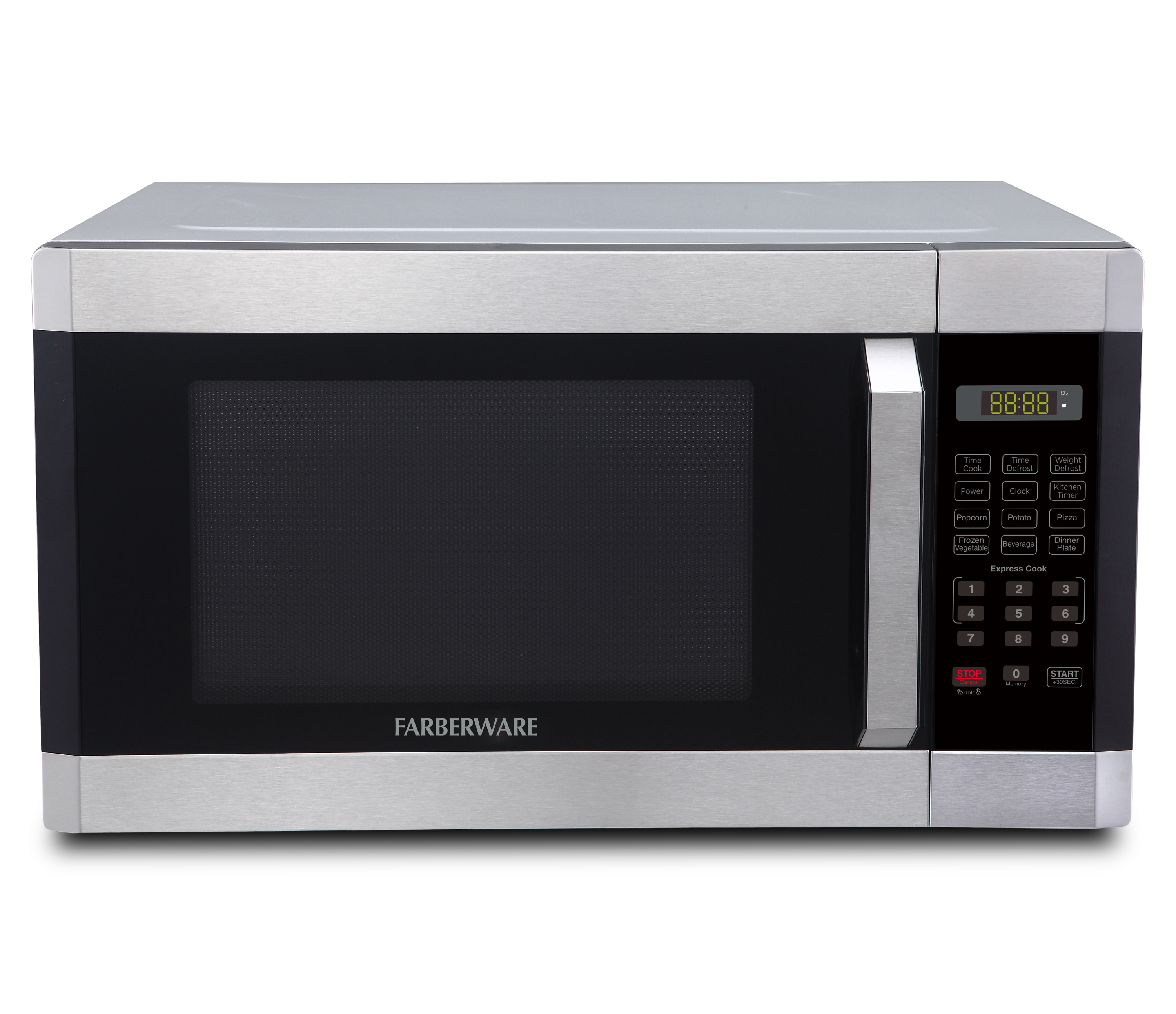 farberware 1 6 cu ft microwave oven brushed stainless steel fmo16ahtbkc