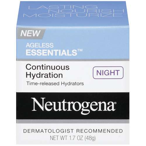 Neutrogena Ageless Essentials Continuous Hydration Night Moisturizers, 1.7 OZ