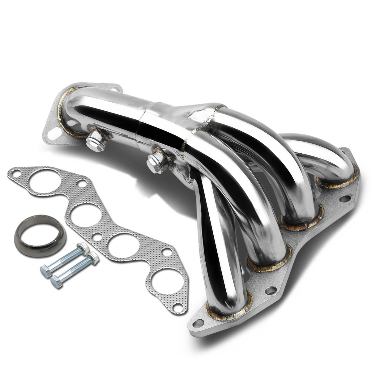 for 2001 to 2005 honda civic 4 1 design stainless steel exhaust header kit 7 gen em es d17a1 engine 02 03 04 walmart com