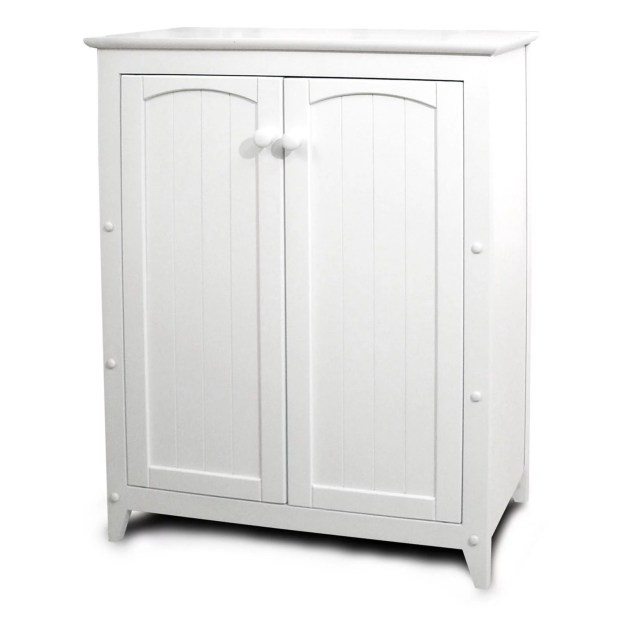 catskill white all-purpose kitchen storage cabinet with double doors