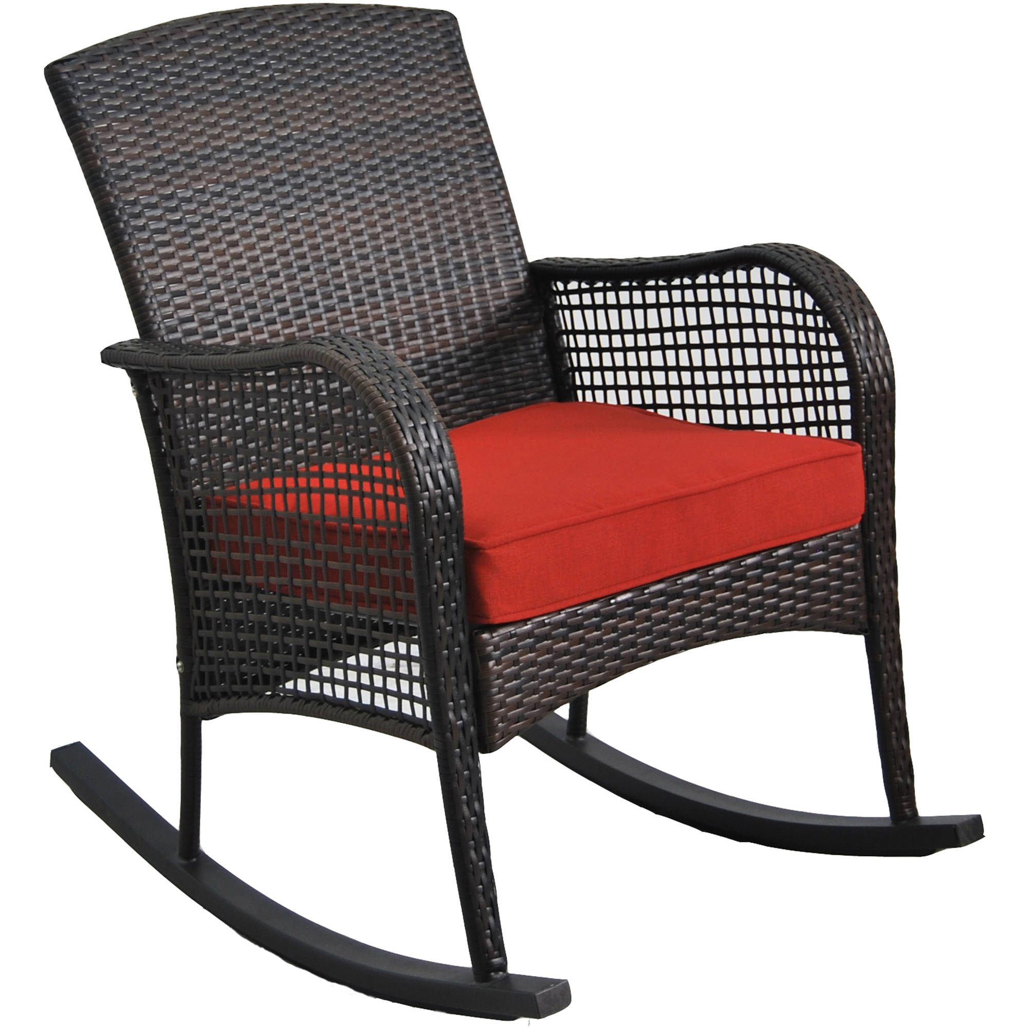 mainstays cambridge park wicker outdoor rocking chair