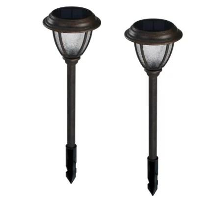 portfolio 2 light bronze led path light kit