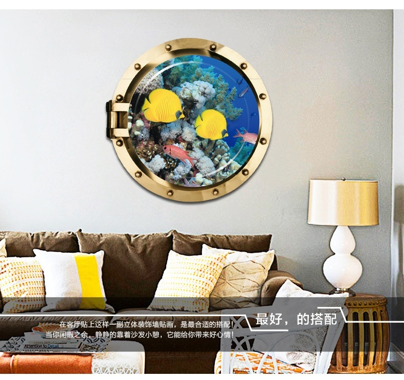 New Porthole Sea Animal Removable Wall Sticker Decals Pvc Mural Kids Room Decor 3d New Walmart Canada