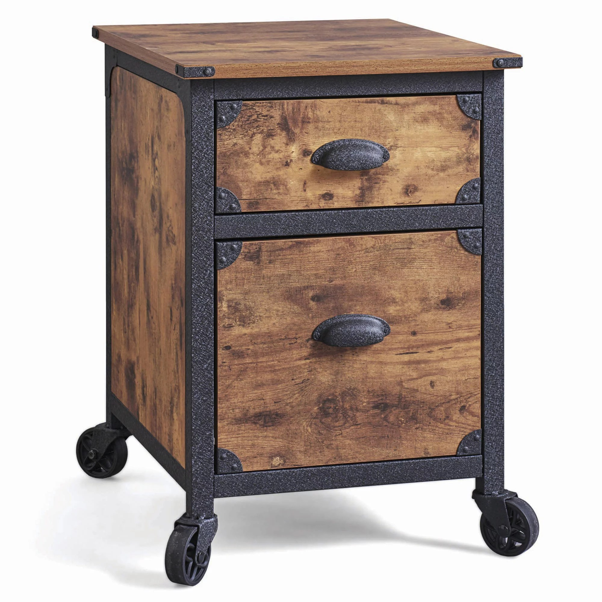 Better Homes Gardens 2 Drawer Rustic Country File Cabinet Weathered Pine Finish Walmart Com Walmart Com
