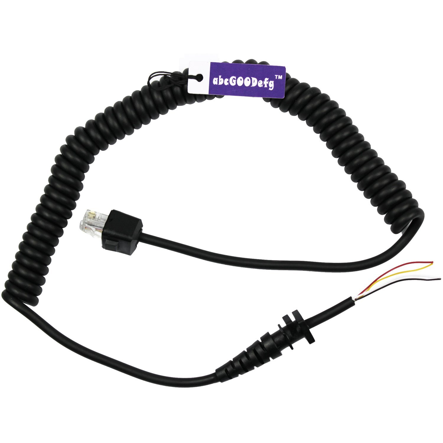 Abcgoodefg 8 Pin 4 Wire Speaker Mic Cable Line Cord For