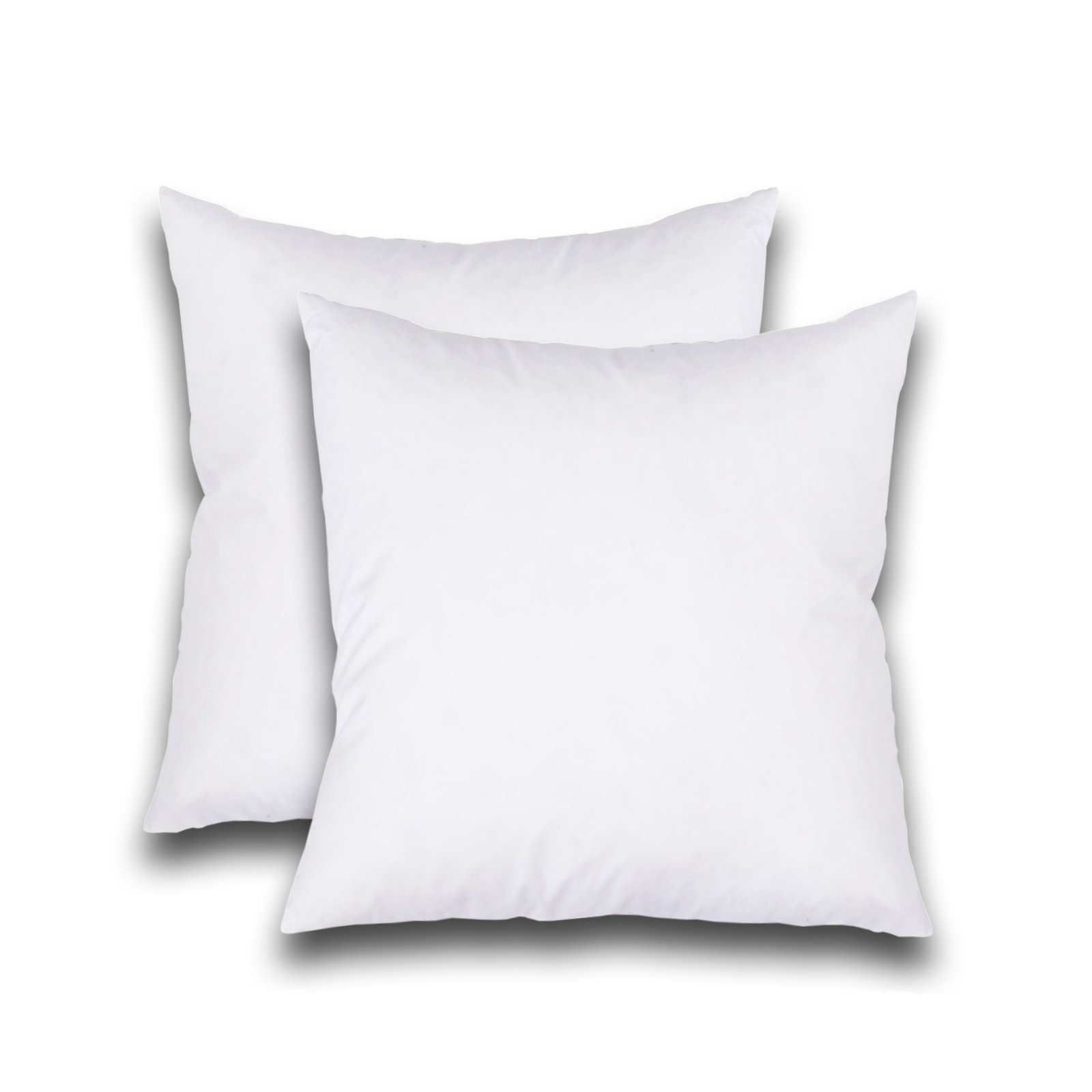 set of 2 decorative pillow inserts square pillow 20x20 inches sofa and bed pillow inserts throw pillow insert white
