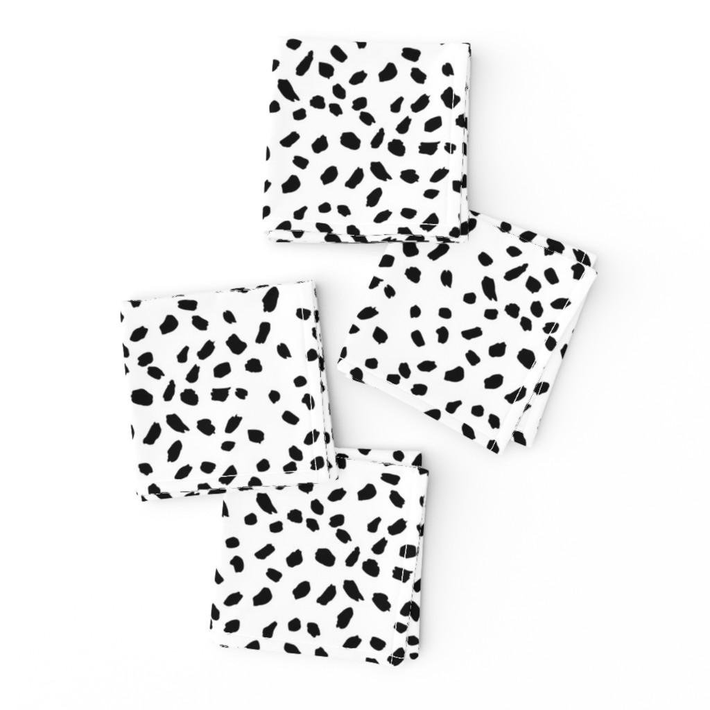 Cocktail Napkins Abstract Dots Spots Brush Strokes Minimal