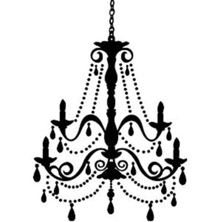 Roommates Rmk1805gm Chandelier With Gems L Stick Giant Wall Decal