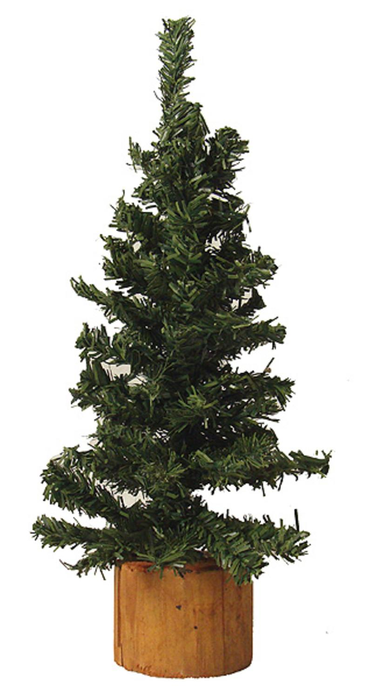 Club Pack Of 24 Mini Pine Artificial Village Christmas