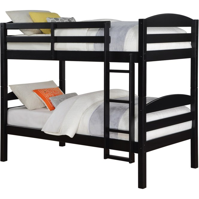 Better Homes And Gardens Leighton Twin Over Wood Bunk Bed With Set Of 2 Mattresses Multiple Finishes