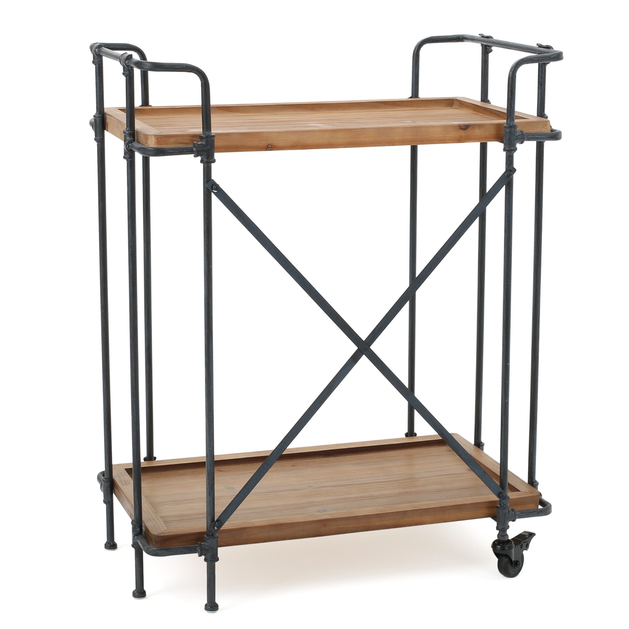 33 brown and black outdoor patio bar cart with wheels