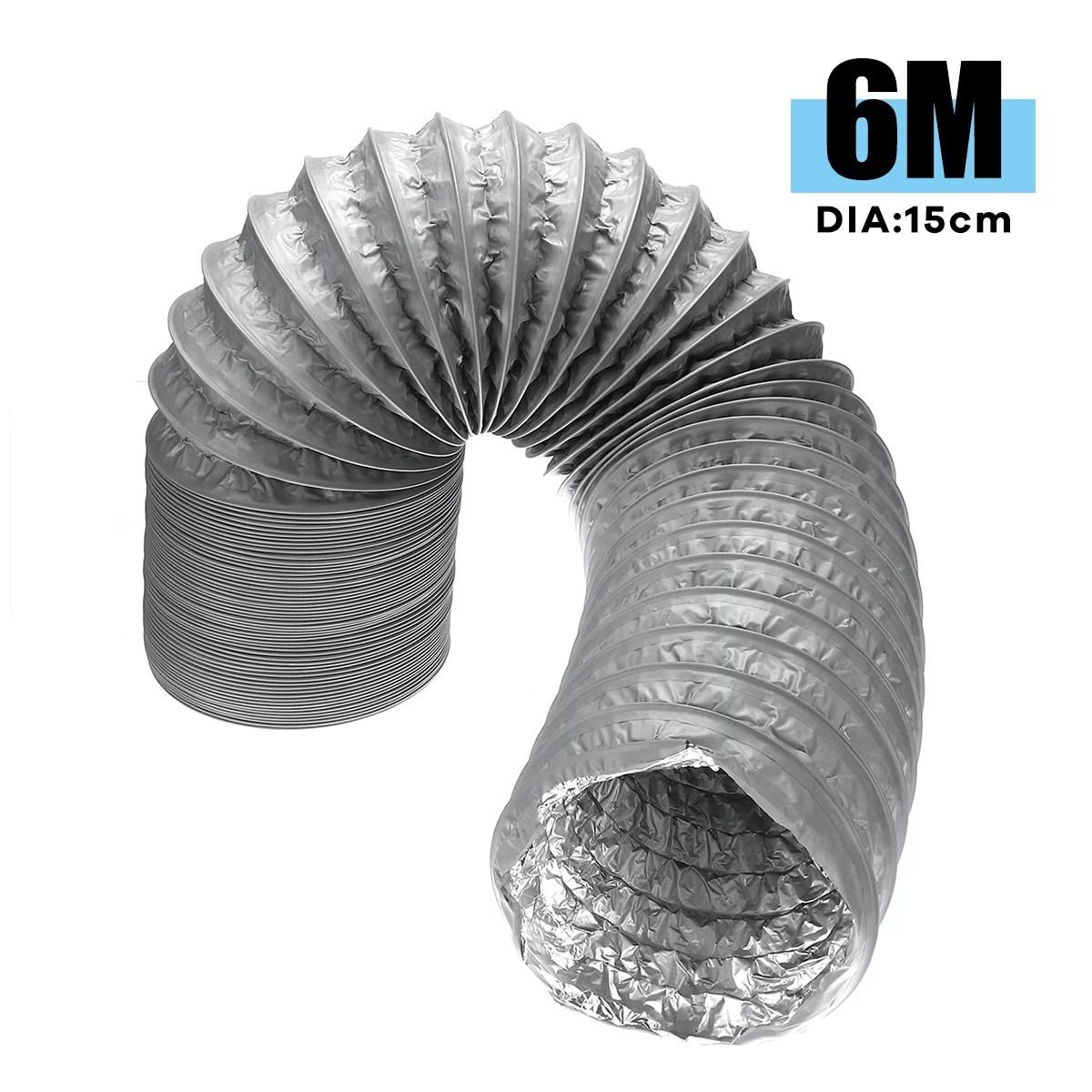 dia 15cm black 5ft 10ft 20ft flexible exhaust vent hose pipe ducting dryer vent hose pvc composite pipe for fresh air system