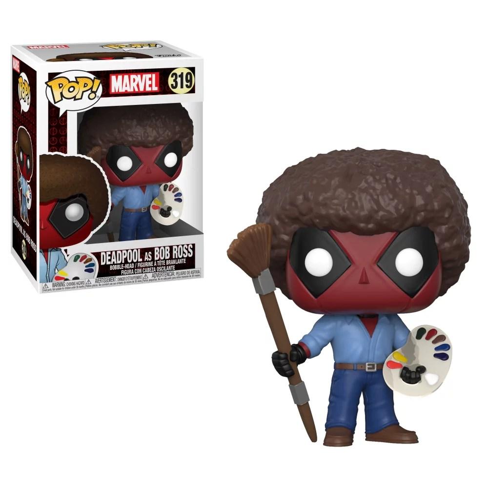Funko Pop Marvel Deadpool As Bob Ross Walmart Com Walmart Com