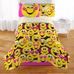 Emojination Bed In A Bag Kids Bedding Set Microfiber Emoji Faces Yellow Black And Pink 4 Piece Twin Walmart Com Walmart Com