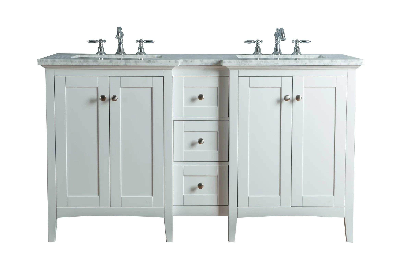 stufurhome tower modern 60 inches white double sink bathroom vanity walmart com