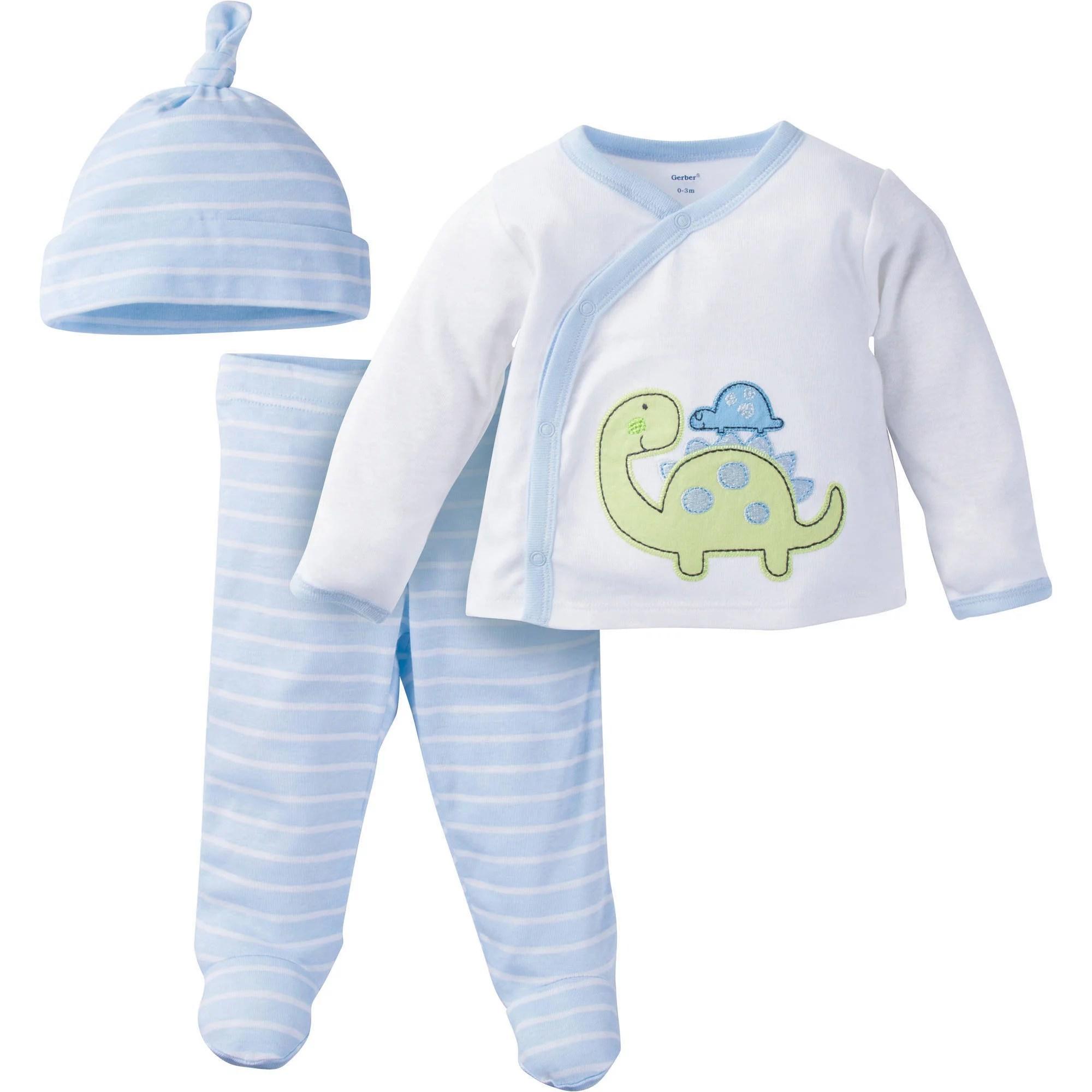 gerber newborn baby boy take me home outfit set 3 piece