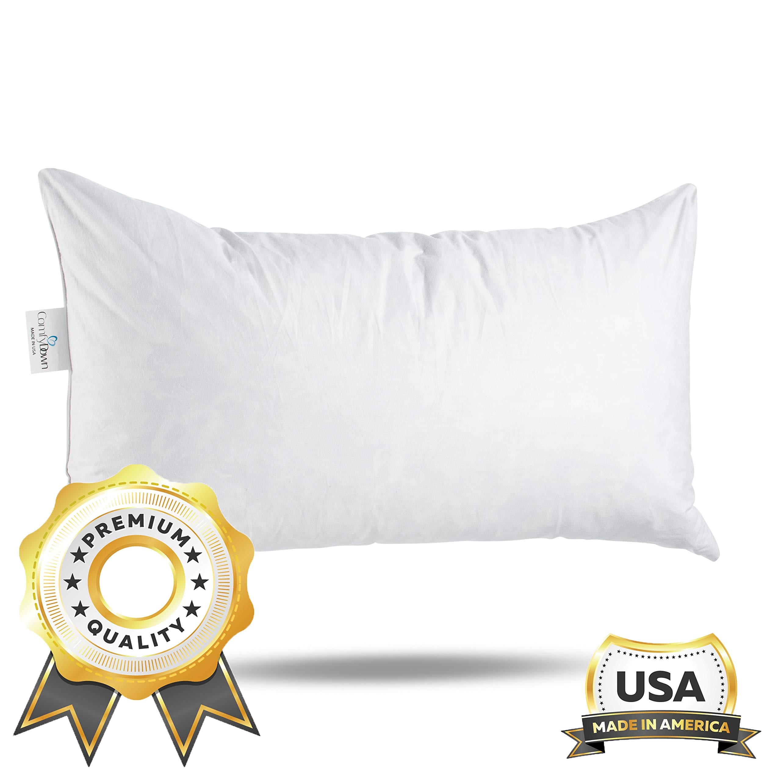 comfydown 95 feather 5 down 12 x 20 rectangle decorative pillow insert sham stuffer made in usa walmart com