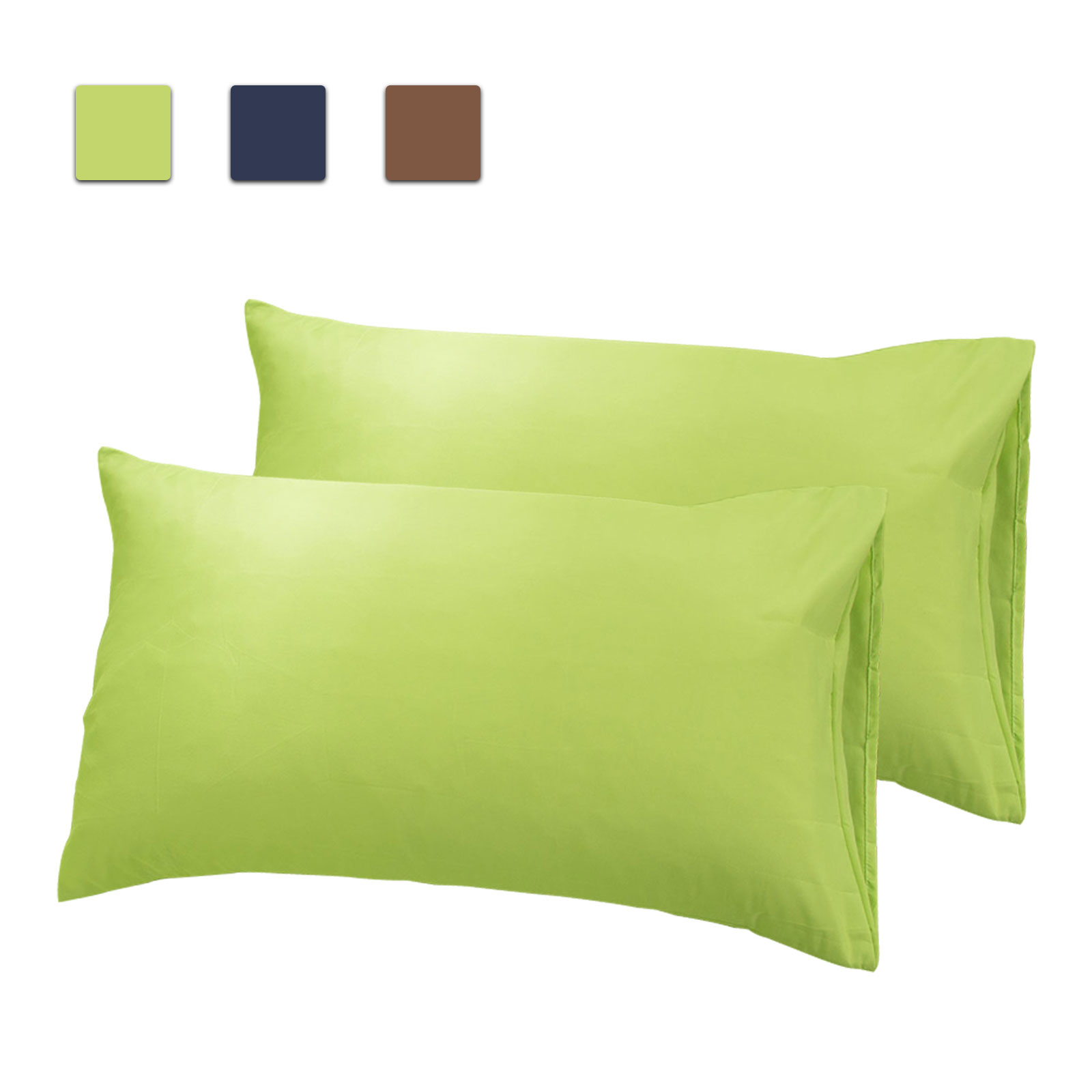 eeekit 2pcs cotton pillow cases standard pillowcase long staple pure natural cotton pillows for sleeping soft silky sateen weave bed pillow cover