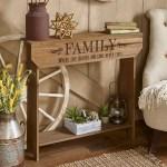 Farmhouse Sentiment Console Table Family Rustic Country Decor Walmart Com Walmart Com