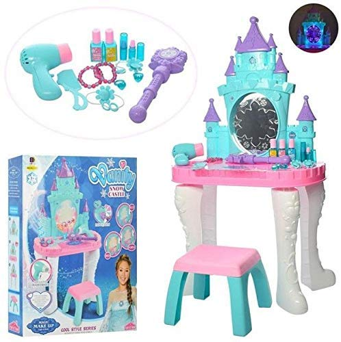 kids vanity table chair beauty play set w fashion makeup accessories for girls