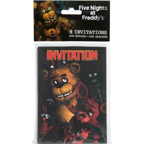 five nights at freddy s invitations 8ct