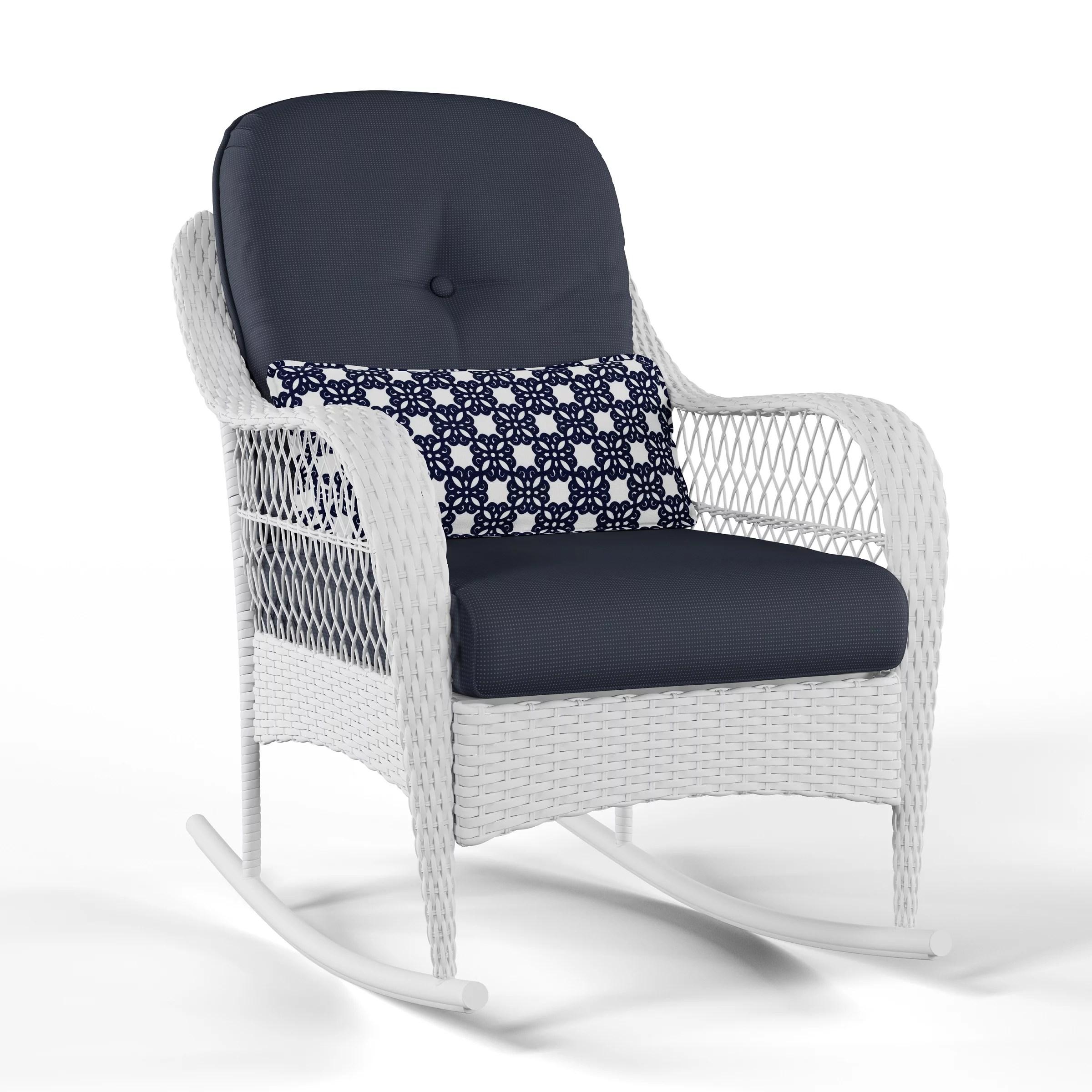 better homes gardens azalea ridge outdoor rocking chair blue walmart com