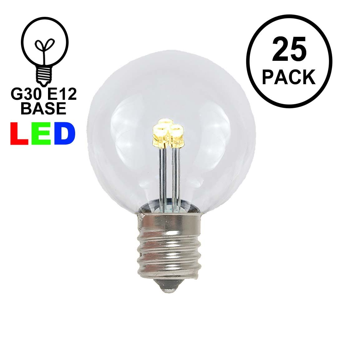 Novelty Lights 25 Pack G30 Led Outdoor String Light Patio