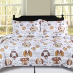 King Dog Puppy Comforter Bedding Set Pet Themed Animal Lover Brown Tan And White Walmart Com Walmart Com