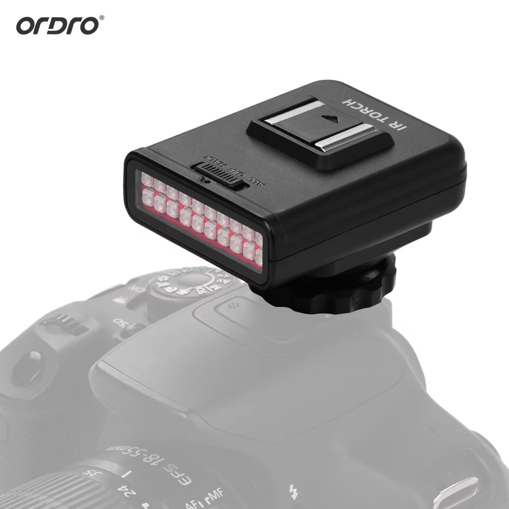 ordro ln 3 studio ir led light usb rechargeable infrared night vision infrared illuminator for dslr camera photography lighting accessory