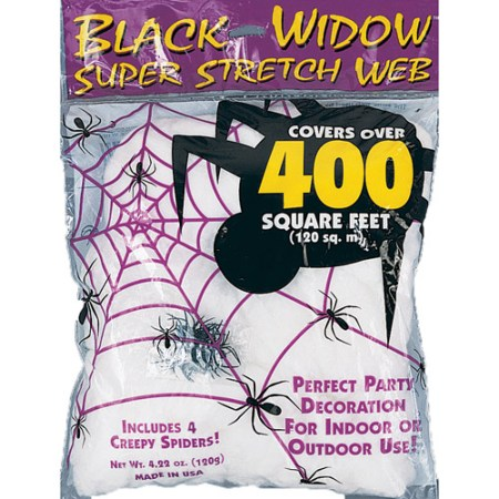 4 Piece Stretchy Spiderweb