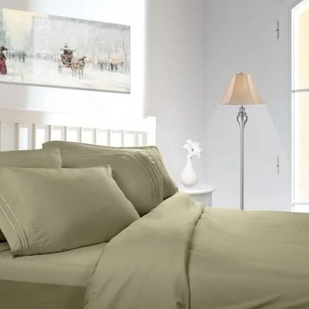 1800 Series Premier Deep Pocket Bed Sheet Set By Clara Clark Includes Flat Ed Pillowcases Microfiber Bedding Size Twin Xl