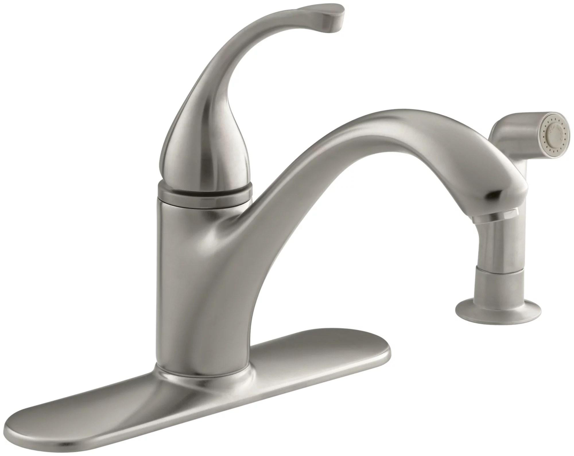 kohler k 10412 forte single handle kitchen faucet