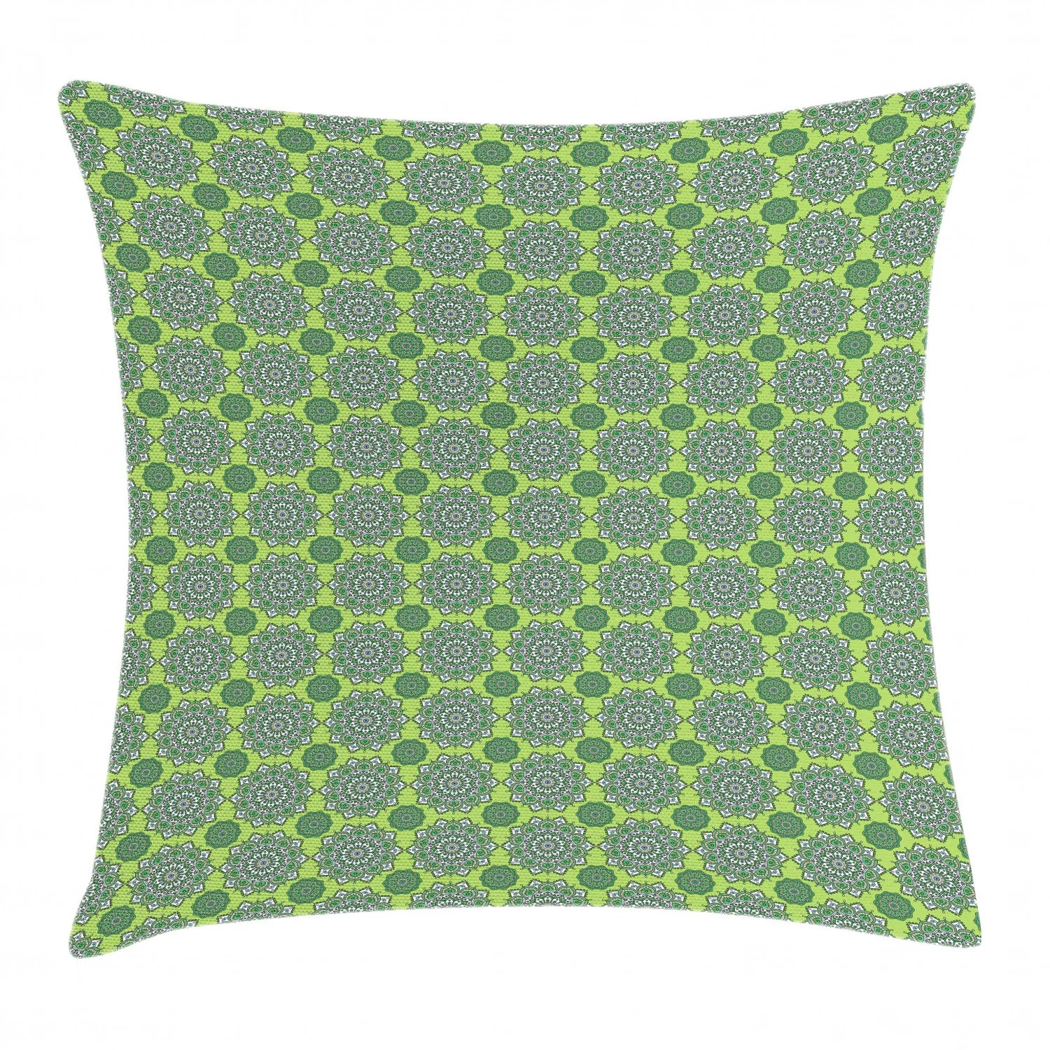 lime green throw pillow cushion cover arabesque oriental moroccan mandala middle eastern boho retro pattern decorative square accent pillow case 20